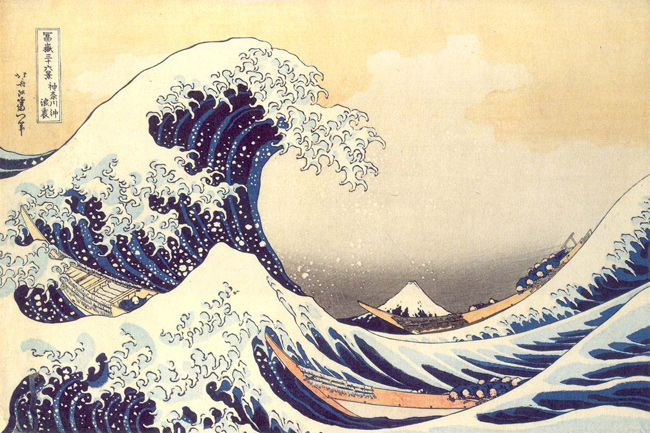 La Vague, Hokusai